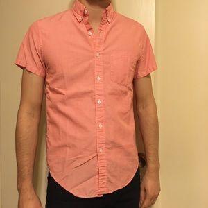 J. Crew Pink Short Sleeve Shirt